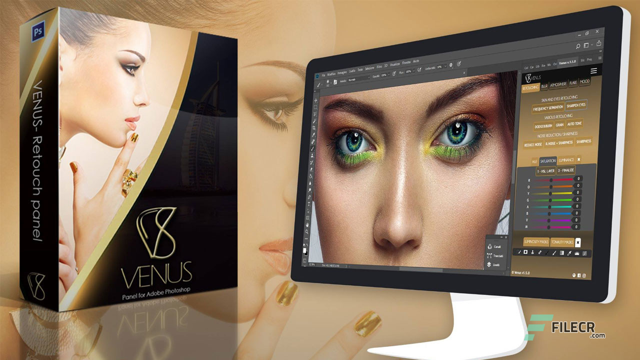 Venus Retouch Panel 3 for Photoshop Free Download
