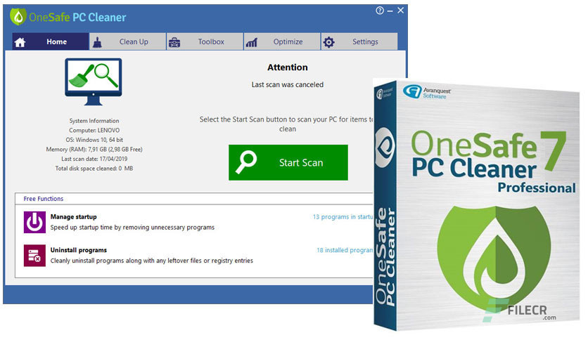 OneSafe PC Cleaner Pro 7.2.0.5