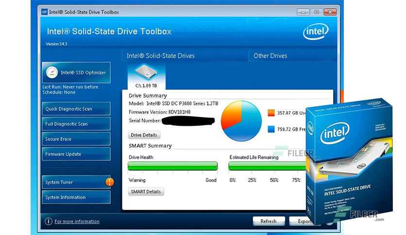 Intel Solid State Drive (SSD) Toolbox 3.5.13