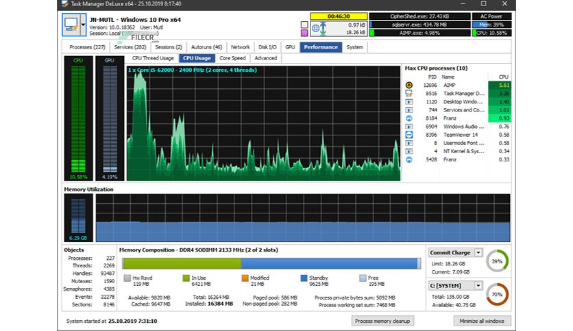 MiTeC Task Manager DeLuxe 3.2.0