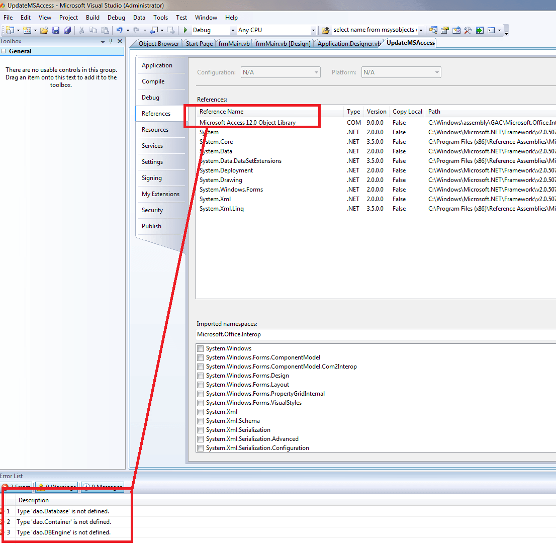 How To Open A Database In Dao Via Vb To Grab All Table