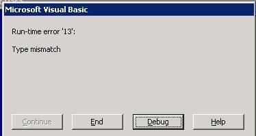 Type Mismatch On Fieldproperty Solutions