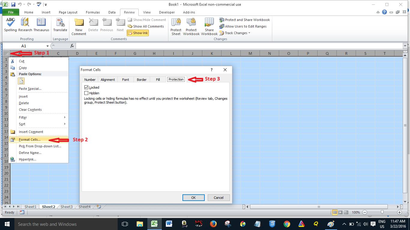 Password Protect Excel Worksheet