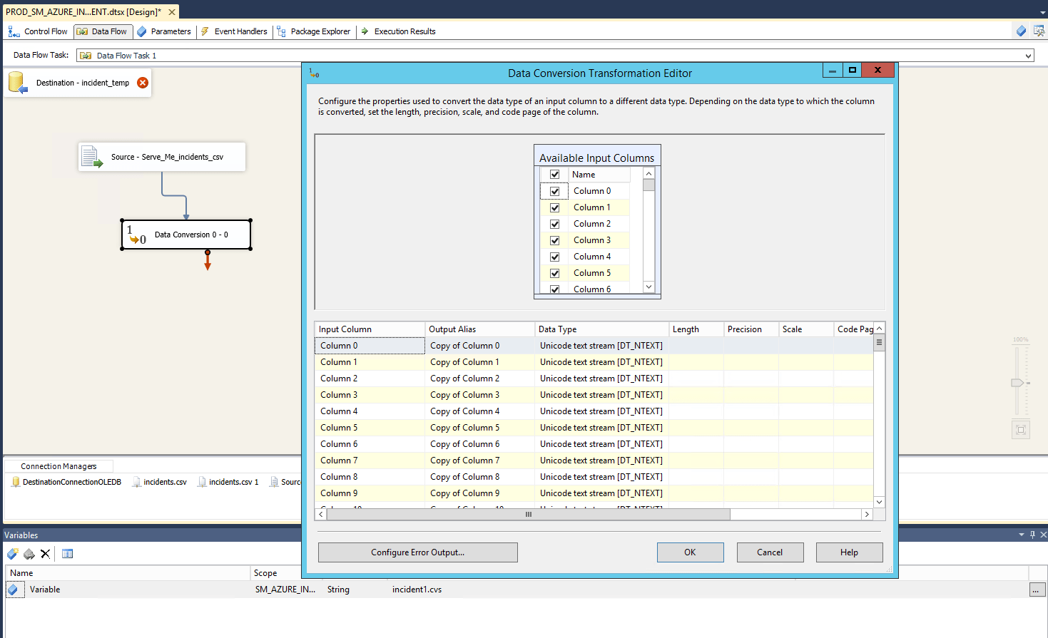 No Match In Target Code Page Error When Inserting Into