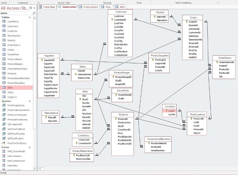 Ms Access Product Inventory Stock Movement Form Layout