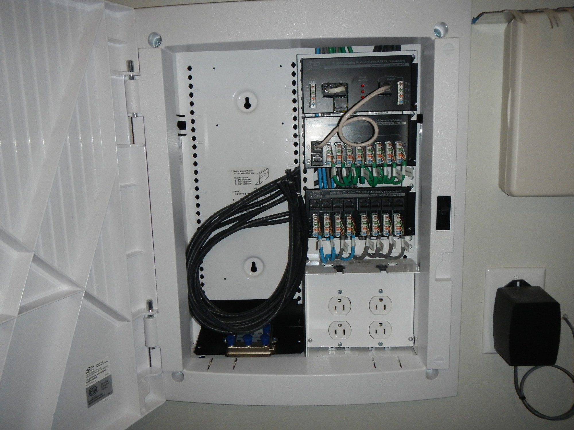 hight resolution of  3 1 2 deep structured wiring panel embedded in wall router to be