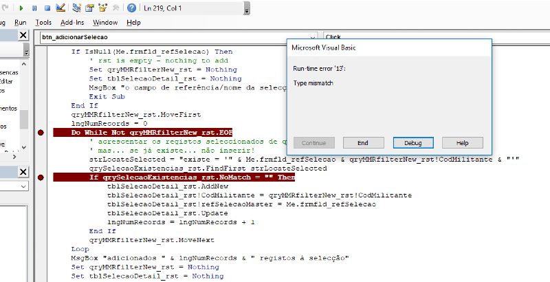 Type Mismatch On Rstndfirst Solutions