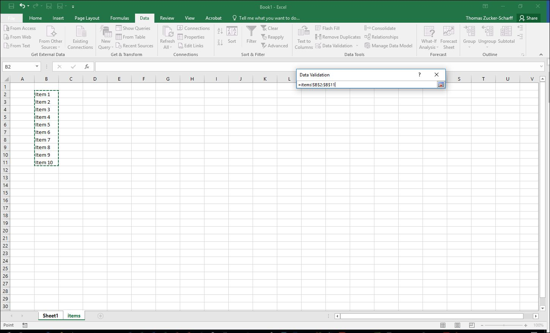 Creating And Using Dropdown Menus In Excel
