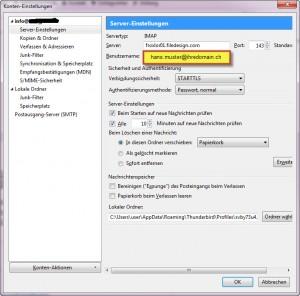 thunderbird-IMAP-einstellungen