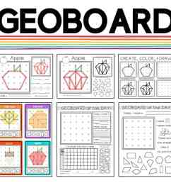 Printable Geoboard Patterns - File Folder Fun [ 966 x 1024 Pixel ]
