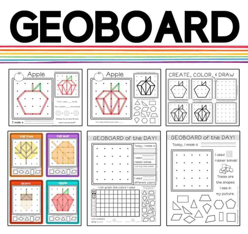 medium resolution of Printable Geoboard Patterns - File Folder Fun