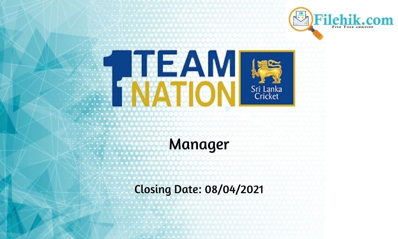 Manager – National Cricket Team 2021 Opportunities