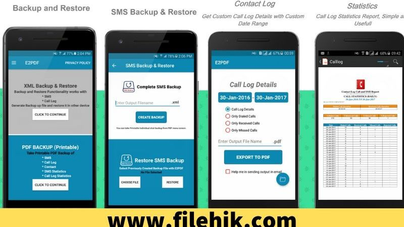 How to backup Phone calls, SMS and Contact in PDF