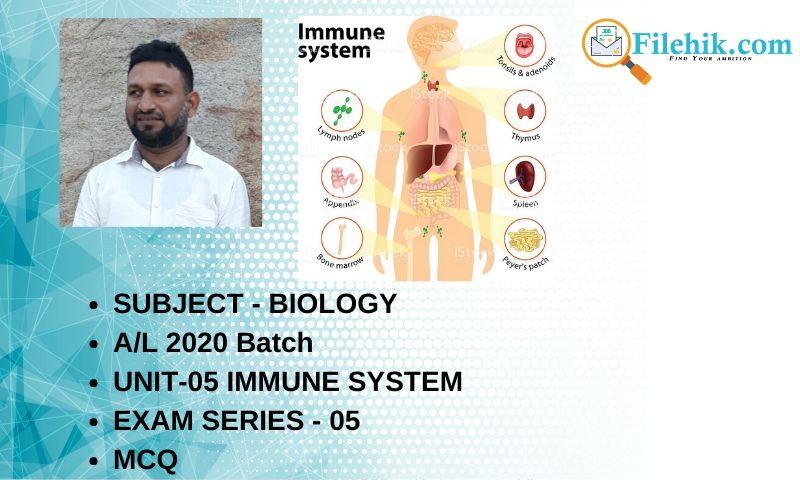 Biology Unit-05 Exam Series – 05