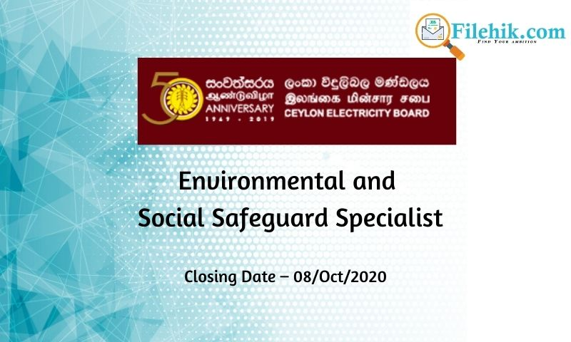 Environmental And Social Safeguard Specialist