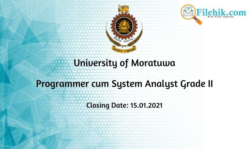 Programmer Cum System Analyst Grade Ii