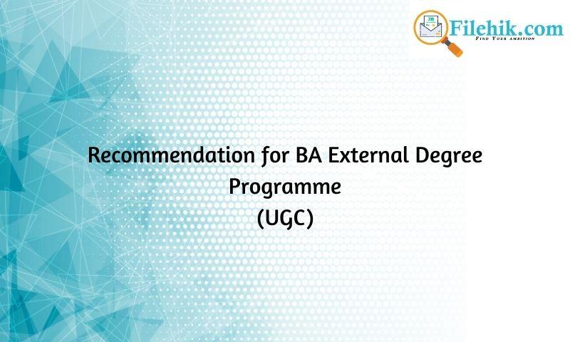 Restructuring Ba (External) Degree Programmes