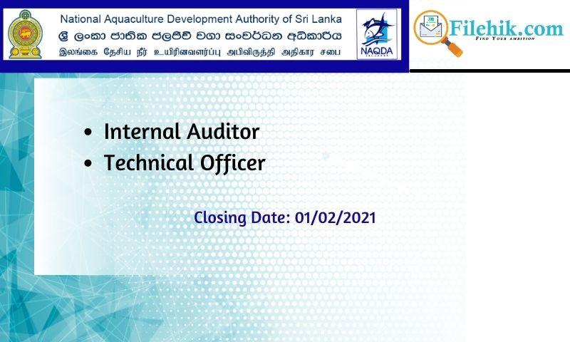 Internal Auditor, Technical Officer – Naqda
