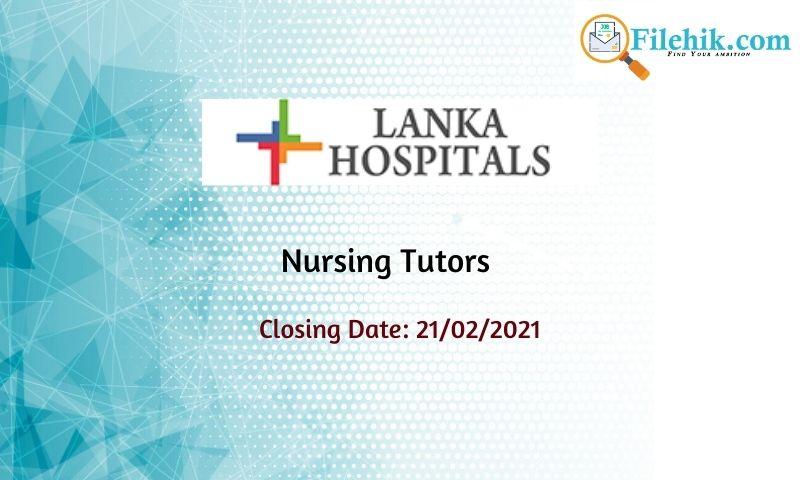 Nursing Tutors – Lanka Hospitals School Of Nursing