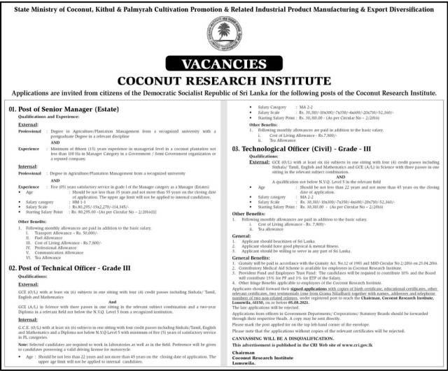Coconut Research Institute