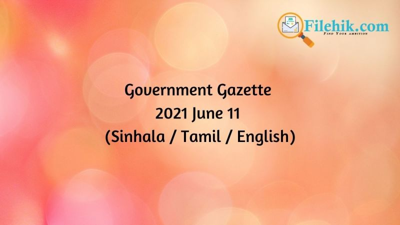 Gazette 2021 June 11