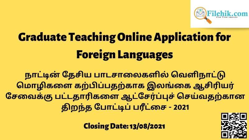 Graduate Teaching Online Application