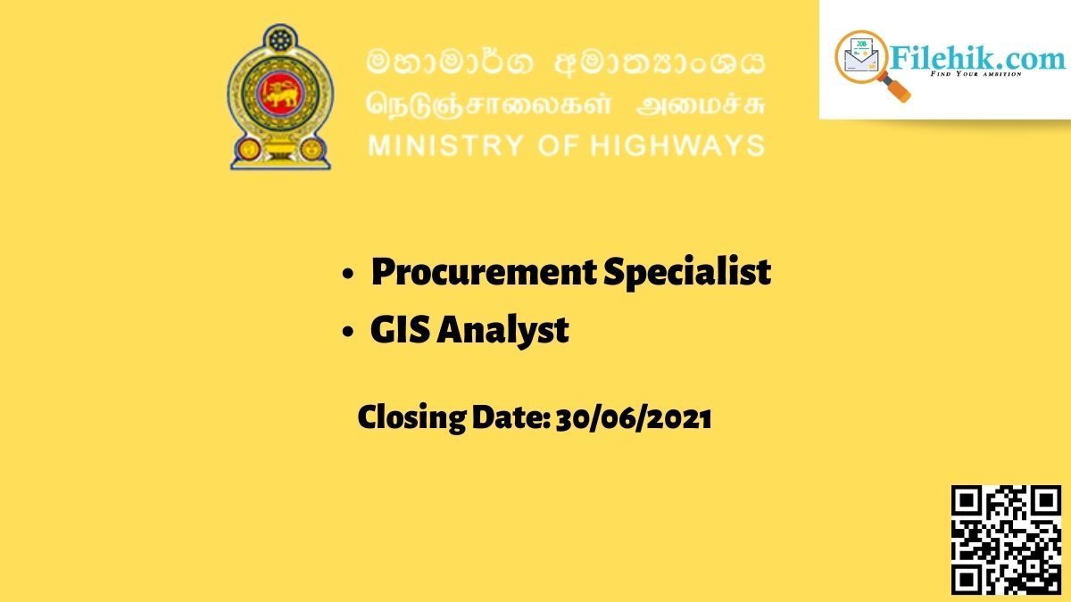 Procurement Specialist, Gis Analyst – Ministry Of Highways Career Opportunities 2021