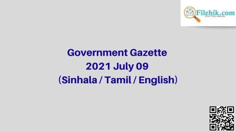 Gazette 2021 July 09