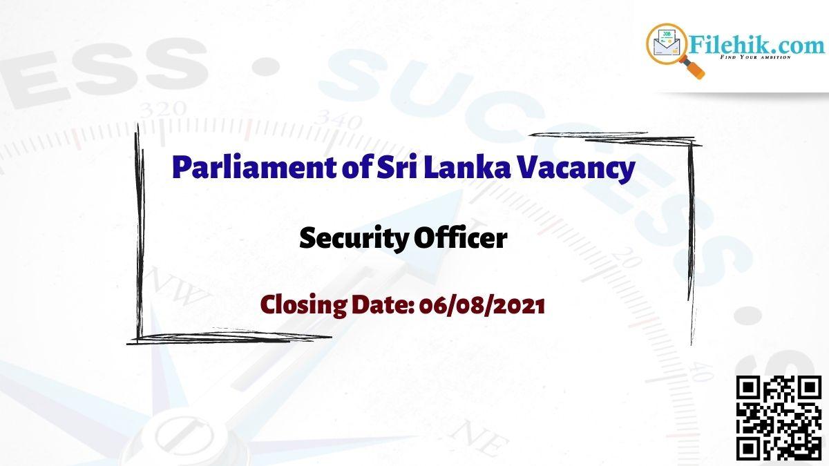 Parliament Of Sri Lanka Career Opportunities 2021