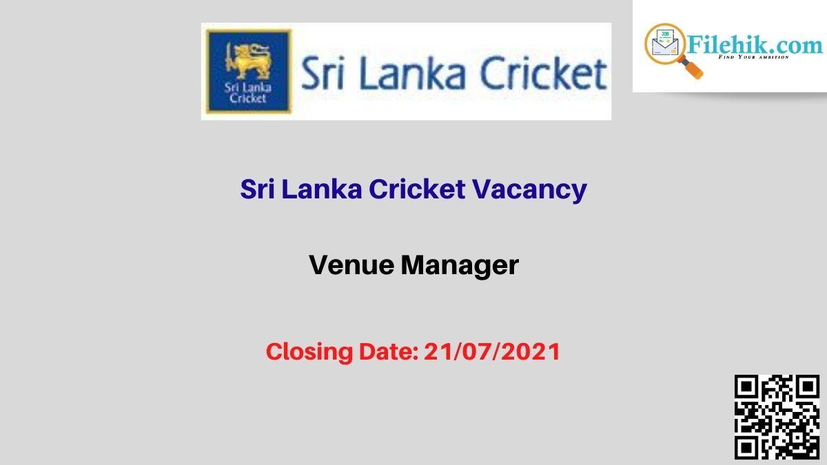 Sri Lanka Cricket Career Opportunities 2021