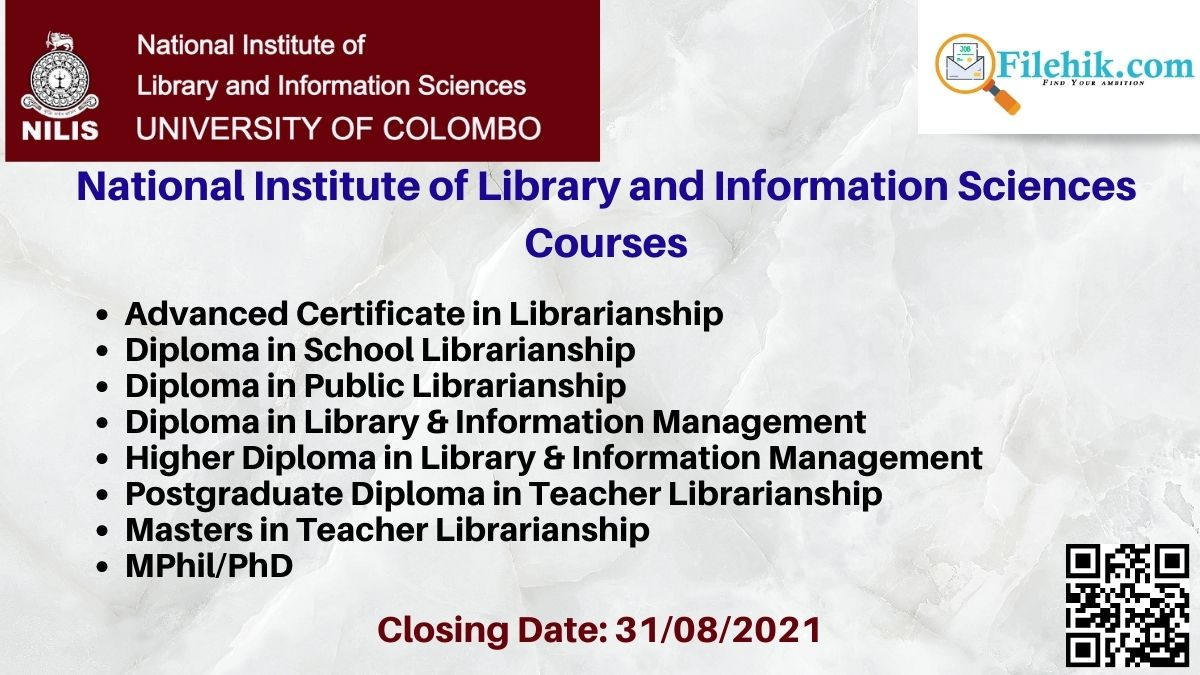 National Institute Of Library And Information Sciences Courses 2021