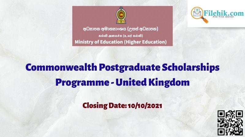 Commonwealth Postgraduate Scholarships Programme