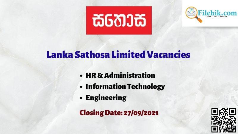 Lanka Sathosa Limited Vacancies