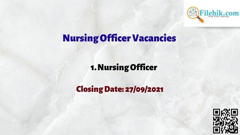 Nursing Officer Vacancies