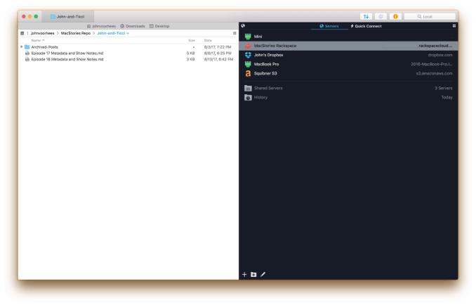 online server on Transmit for mac