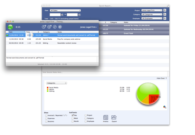 OfficeTime Tracking Software for Mac