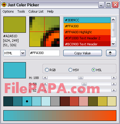 Just Color Picker 5.1 Free Download
