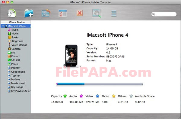 iMacsoft iPhone to Mac Transfer 2018 For Mac