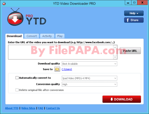 YTD Downloader Pro 5.9.10.3 Full Version Crack