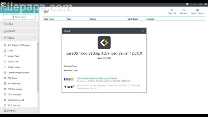 EaseUS Todo Backup Advanced Server 12.0 + Crack