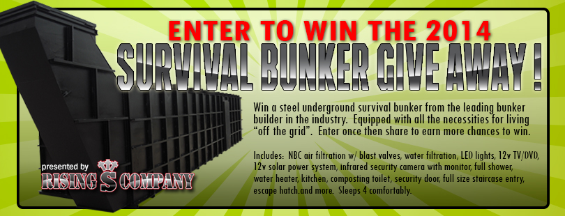 Rising S Survival Bunker Give Away