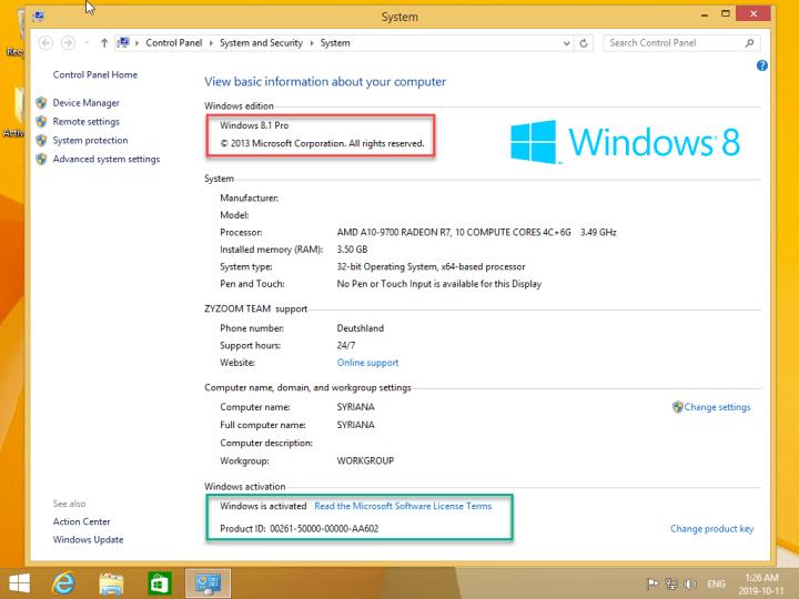 Windows 8.1 Pro (x64) 2019 Pre-Activated