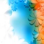 Blue Orange And White Floral Background Image