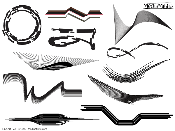 Line Art Vector Design Elements Set 6