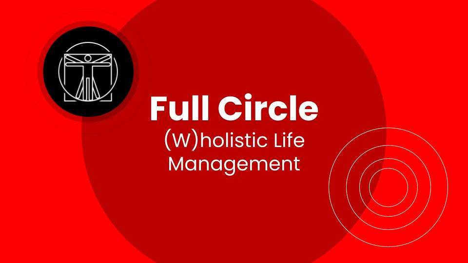 Full Circle: (W)holistic Life Management