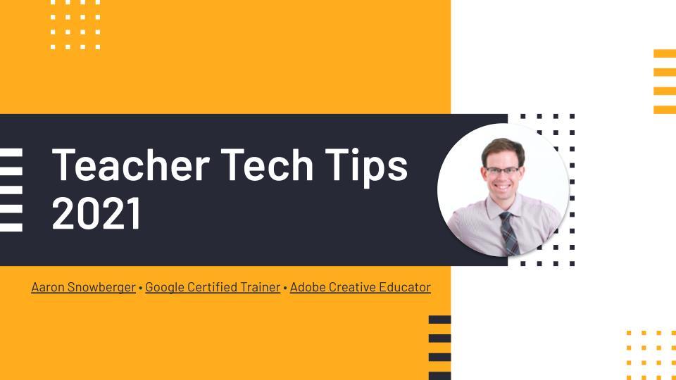 Teacher Training Tech Tips