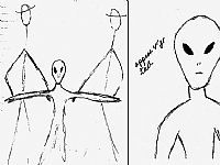 UFO Occupant Sketches / Non Human Reports.