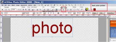 ACD SYSTEMS | How do I add text to a project using ACD...