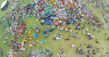 Desde el aire, es impresionante observar como los cinco mil acampantes disfrutan cada uno de los días de este Camporí.