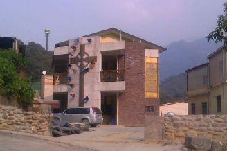Taiwan, esa Iglesia es llamada de Iglesia de las mariposas. Eso, porque esta decorada con mariposas gigantes en su fachada.